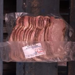 Canadian Bacon – Cured & Salted – per lb